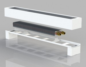 Біметалічний конвектор підлогового типу