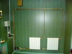 Водяне опалення з використанням для нагрівання теплоносія електрокотла