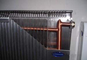 Алюмінієвий радіатор в розрізі