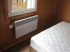 Електроконвектор в кімнаті
