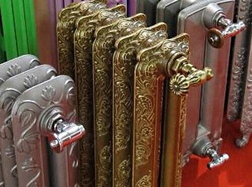 Крани для чавунного радіатору в стилі ретро