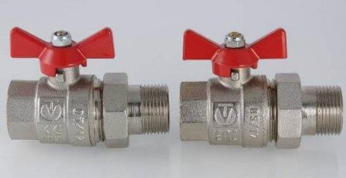 Кульові крани VALTEC CT та ЕАС.