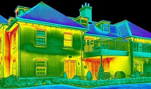 Фото тепловізійного обстеження енергоаудит.