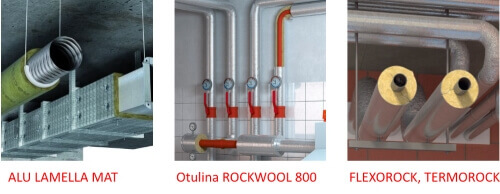 ROCKWOOL- теплоізоляція для опалення, водопостачання, каналізації.