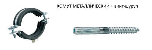 Металлический хомут для труб.