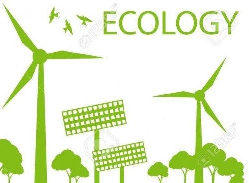 Альтернативна енергетика - вітряк, сонячна електростанція.