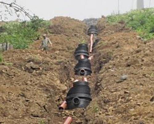 Гасителі швидкості потоку каналізаційні.