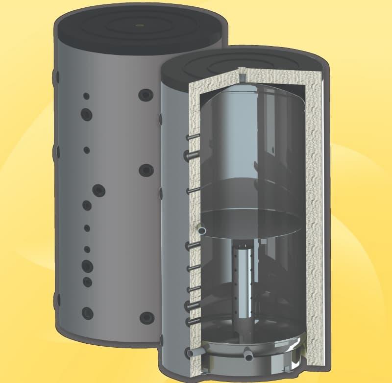 Теплоакумулятор для твердопаливного котла.