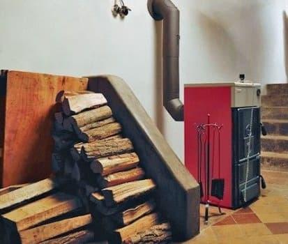 Твердопаливний котел в будинку.