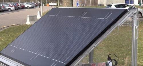 Срнячна панель для виробництва водню, Бельгія.
