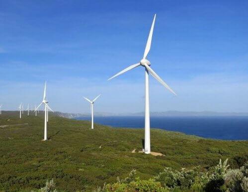 Вітряк для виробництва електроенергії.