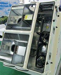 підвісна припливно-витяжна установка з рекуперацією тепла і тепловим насосом AEROSTARTEC-DX