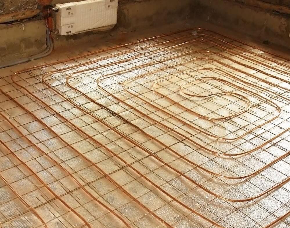 Мідна труба для теплої підлоги.