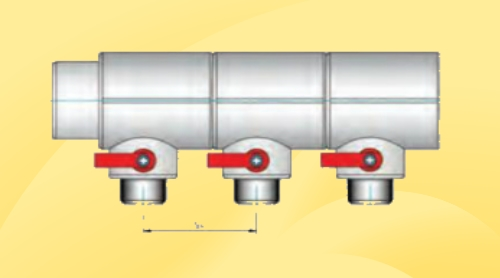 Колектор поліпропіленовий з трійників.