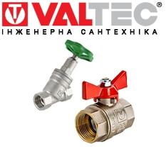Комплектуючі для опалення, водопостачання ВАЛТЕК логотип.