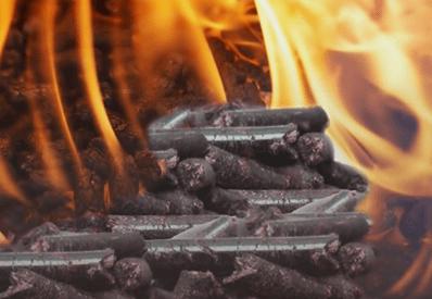 Пелети для опалення в Німеччині.