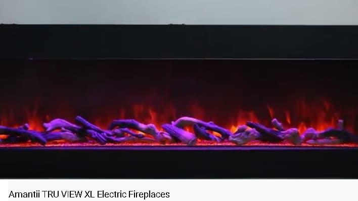 Електрокамін - горіння, імітація дров.