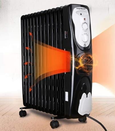 Масляний радіатор опалення електричний.