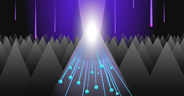 Фотон вибиває електрон.