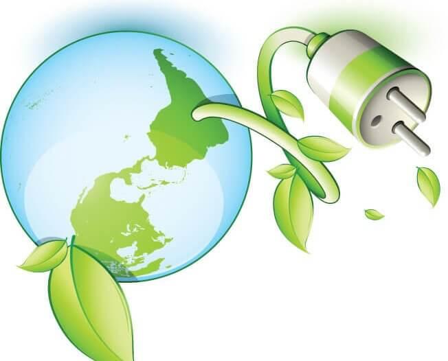 енергоефективність логотип з землею.