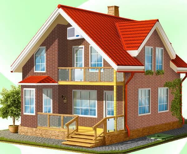 Дім - проект опалення будинку.