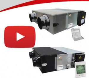 Відеоогляди компактних припливно-витяжних установок.