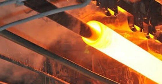 Виробництво безшовної сталевої труби.